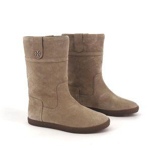 TORY BURCH Alana Suede Shearling Winter Boots